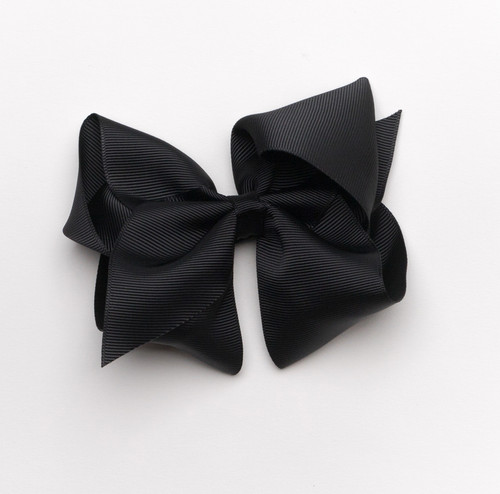 "Grosgrain Bow-5"" in Black"