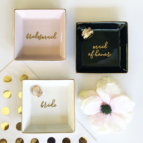 Monogram Ring Dish for Bridal Party