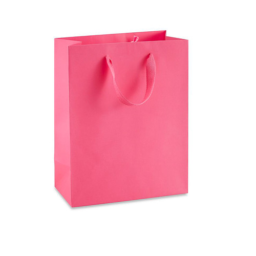 Gift Bag in Pink with Ribbon Handle