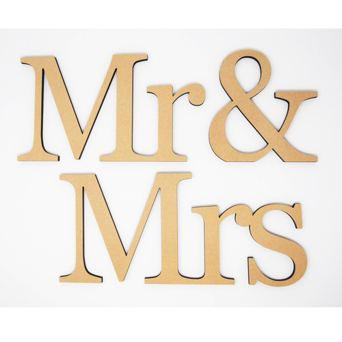Mr & Mrs Unfinished Wood-3/4""