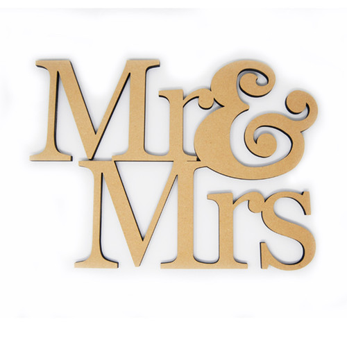 Mr & Mrs Unfinished Wood-Stacked-3/8""