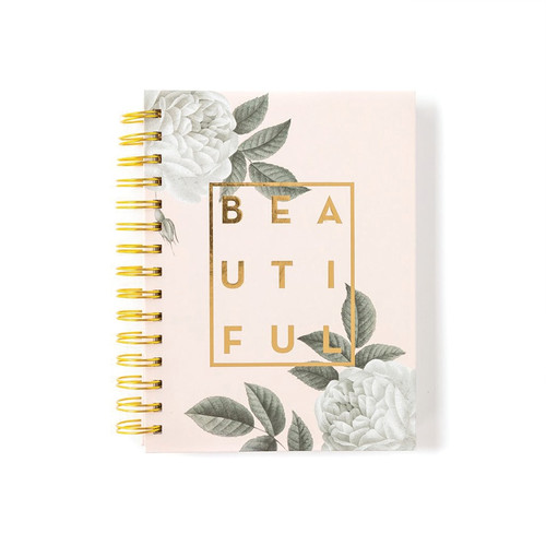 Paper Love - Notebook-Spiral Beautiful Metallic Pink