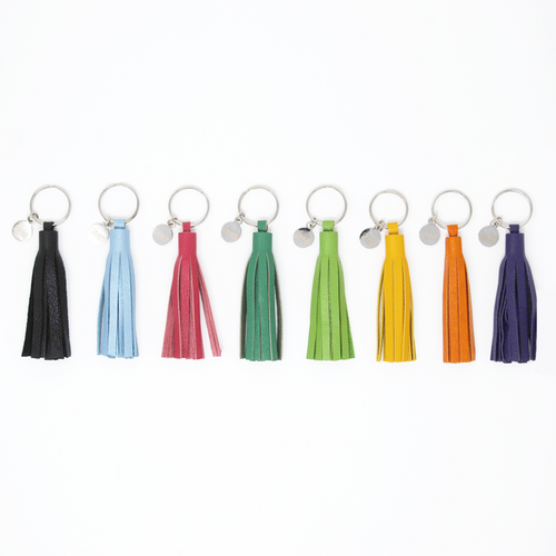 Leather Tassel Keychain - 3""