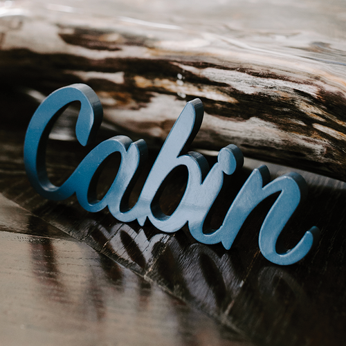 Word Art - Cabin (6 Colors)