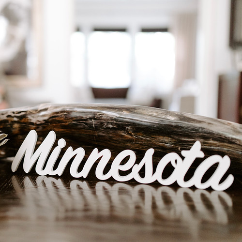 Word Art - Minnesota (6 Colors)