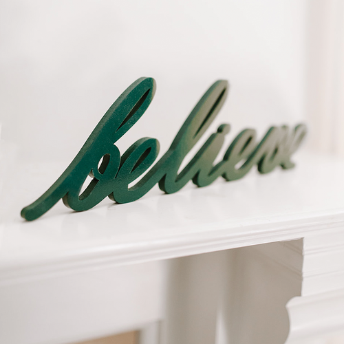 Word Art - Believe (6 Colors)