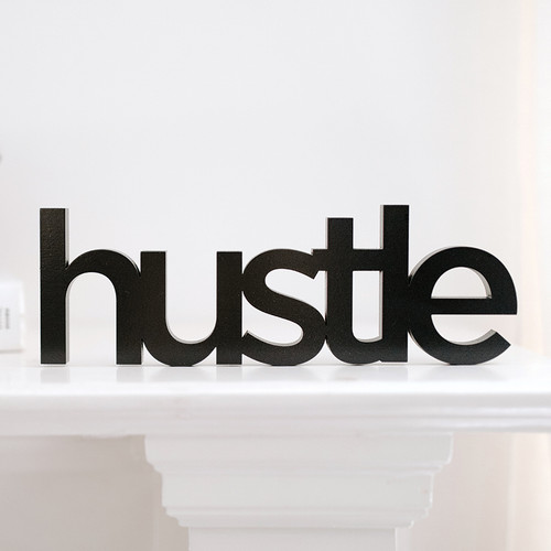 Word Art - Hustle-San Serif (5 Colors)