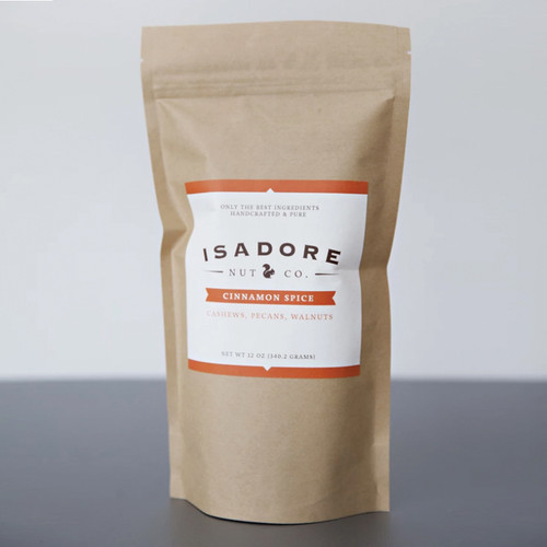 Isadore Nut's Cinnamon Spice Organic , Maple Infused Nut Mix