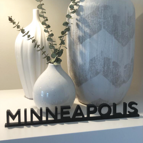 Word Art - Minneapolis - Sans Serif (6 Colors)