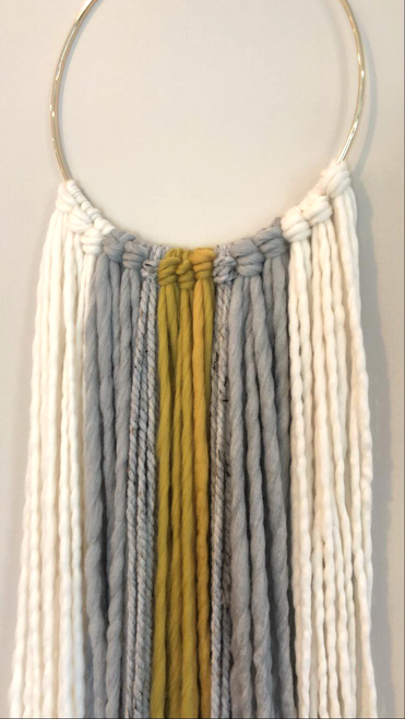 Ochre Boho Yarn Art