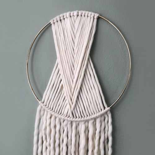 Single Hoop Weave Yarn Art