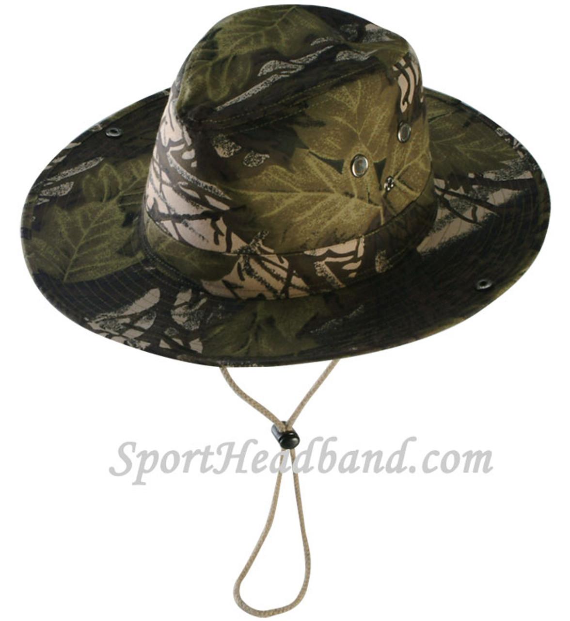 b96fc7cf4e2be Mossgreen Hunting Camouflage Bucket Hat Safari Style - SportHeadband.com