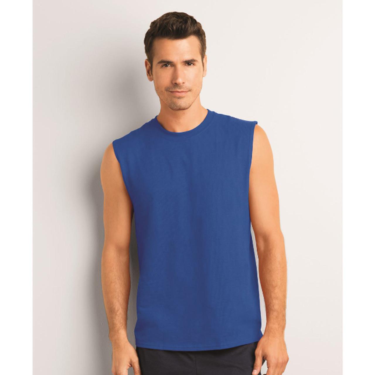e8750cd4f781f Gildan Ultra Cotton Sleeveless T-Shirt - SportHeadband.com