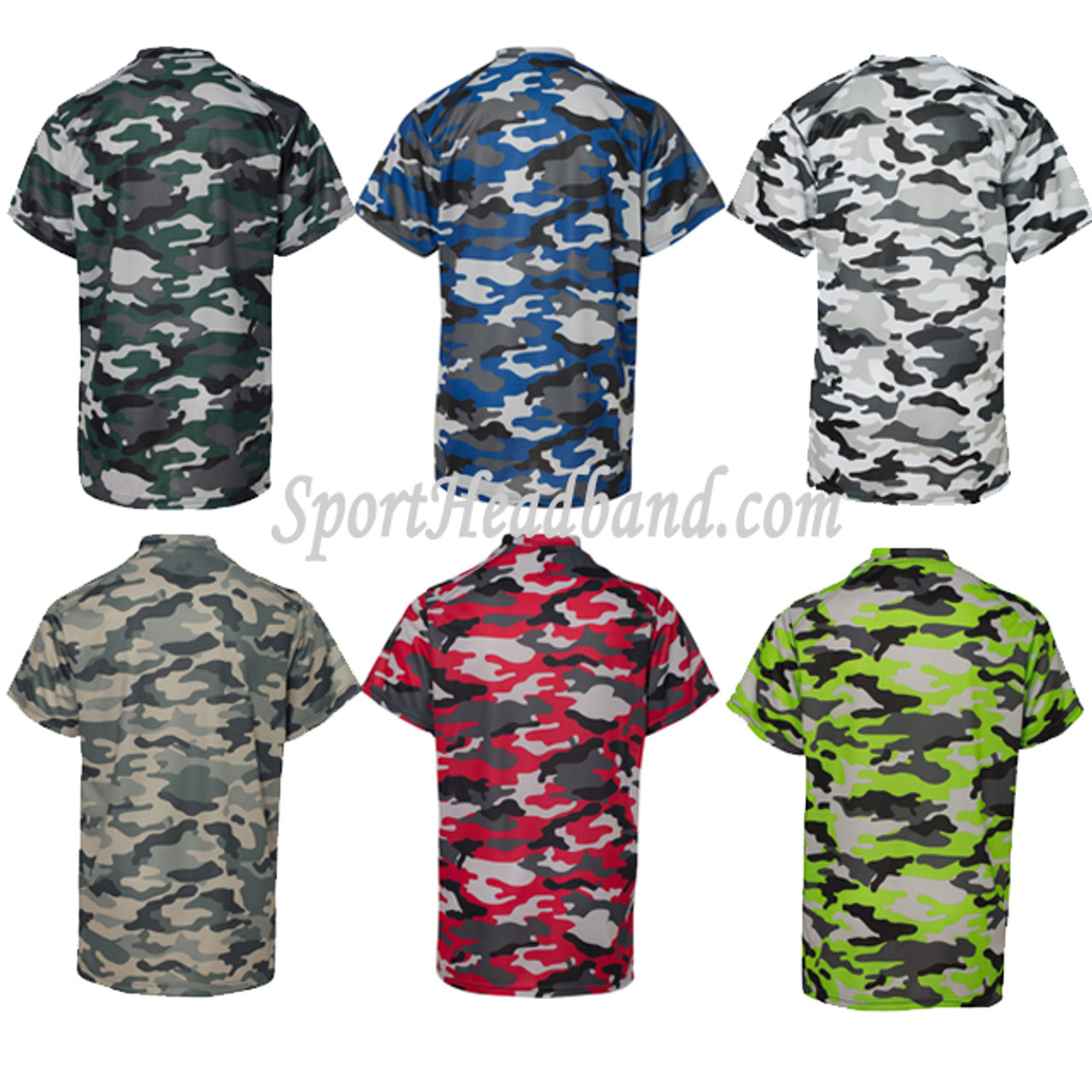 6d0de7624 Youth Camouflage Short Sleeve Tee Shirt - SportHeadband.com