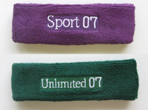 100 pieces text  Customized headbands with text embroidery 80ca5784ba8