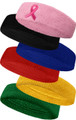 PREMIUM Quality COUVER Plain Standard Size (One Size Fits Most) Terry Cloth Sport Headband (Many Colors)