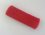Red terry sport headband for sweat