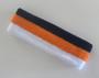 Navy orange white stripe terry sport headband for sweat