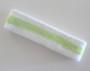 White apple-green white stripe terry tennis headband for sweat