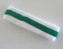 White green white stripe terry tennis headband for sweat