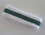 White Dark Green White stripe terry tennis headband for sweat