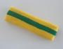 Yellow green yellow stripe terry sport headband for sweat