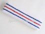 Blue red blue line in white tennis headband terry cloth