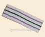Skyblue green sky blue line in white tennis headband terry cloth