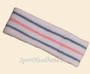 sky blue pink sky blue line in white tennis headband terry cloth