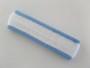 White with light sky blue trim headbands sports pro