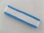 White with bright sky blue trim headbands sports pro