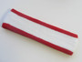 White with red trim headbands sports pro