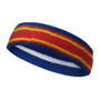 Blue red with yellow lines basketball headband pro