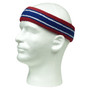 Dark red blue with white lines basketball headband pro