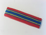 Red blue with yellow lines basketball headband pro