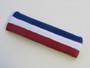 Blue white red striped headband sports pro
