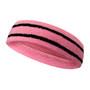 Pink basketball headband pro with 2 black stripes
