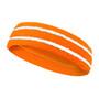 Orange basketball headband pro with 2 white stripes