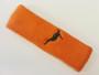 Orange custom headbands sports sweat terry