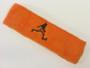 Orange custom terry headband sports sweat
