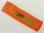 Orange custom terry headbands sports sweat
