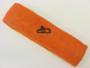 Orange custom sport sweat headband terry