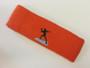 Dark orange custom sports headband sweat terry