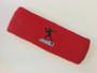 Red custom sports headband sweat terry