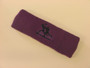 Purple custom sport sweat headbands terry
