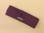 Purple custom sports headband sweat terry