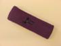 Purple custom sport head band sweat terry