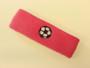 Brigth pink custom headband sports sweat terry