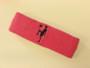 Bright pink custom sport headband sweat terry
