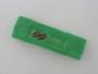 Bright green custom terry headbands sports sweat